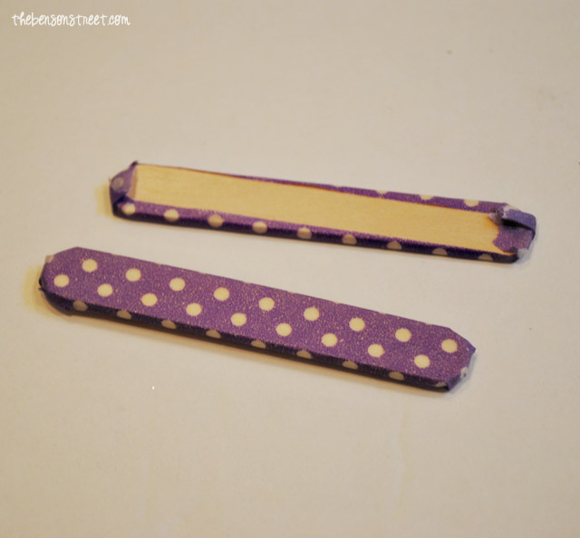 Popsicle Stick Spring Craft at thebensonstreet.com