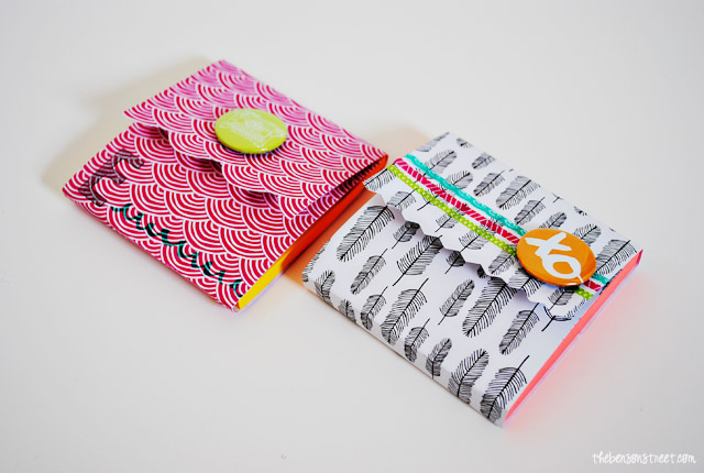 Fun patterned Post-It Note Covers at thebensonstreet.com