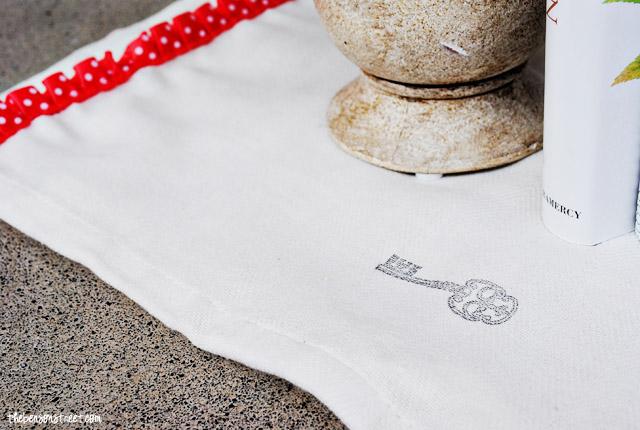 Stamped Tea Towel at thebensonstreet.com