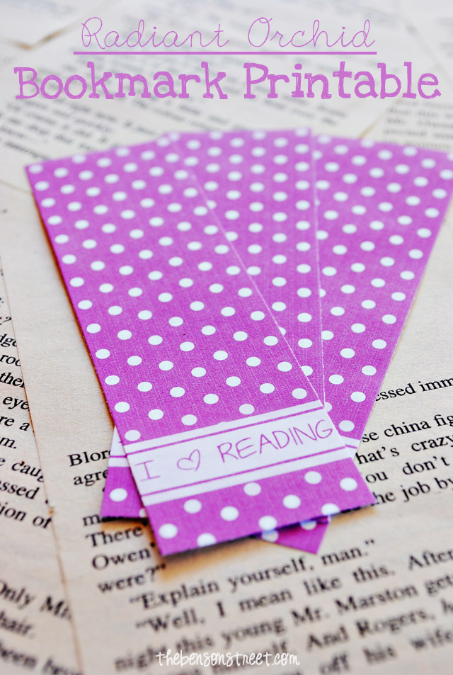 I Heart Reading Bookmark Printables at thebensonstreet.com
