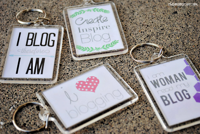 Personalized Keychain Idea at thebensonstreet.com