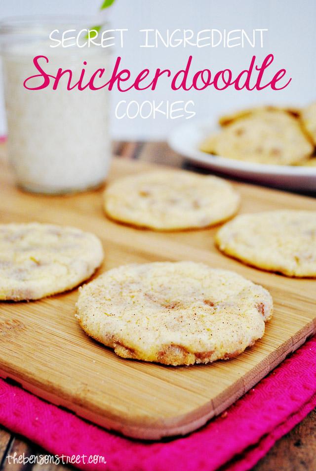 The best snickerdoodle cookies recipe at thebensonstreet.com