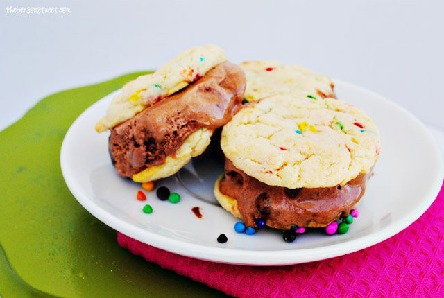 Birthday Cake Remix Ice Cream Sandwiches