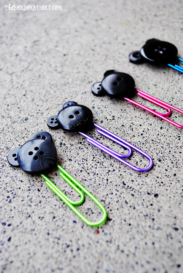 Adorable Mickey Paper Clips at thebensonstreet.com