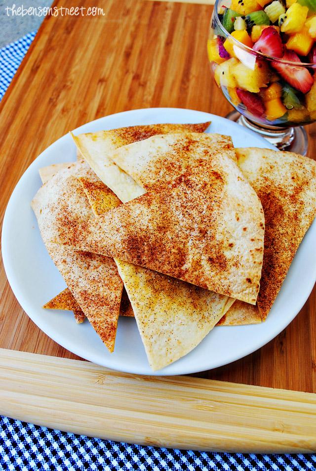 Cinnamon Tortilla Chips at thebensonstreet.com