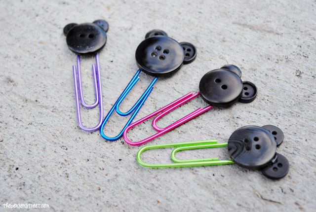 Easy to make Mickey Mouse Paper Clips at thebensonstreet.com