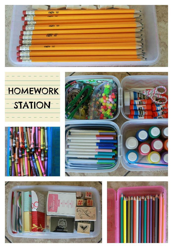 Homework Station Collage