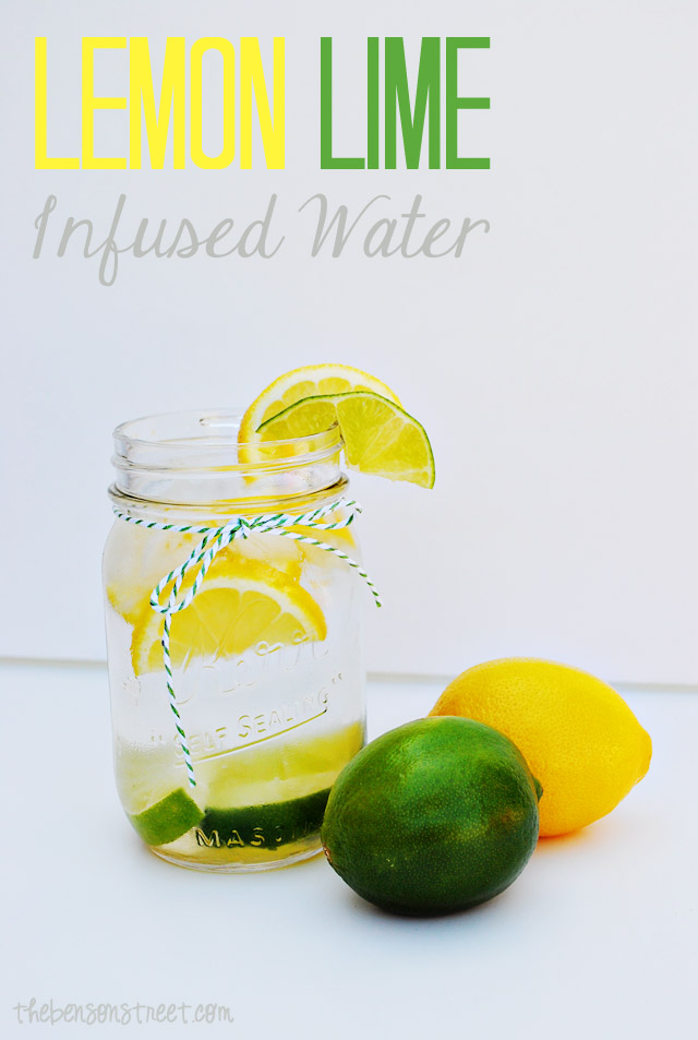 Lemon Lime Infused Water at thebensonstreet.com