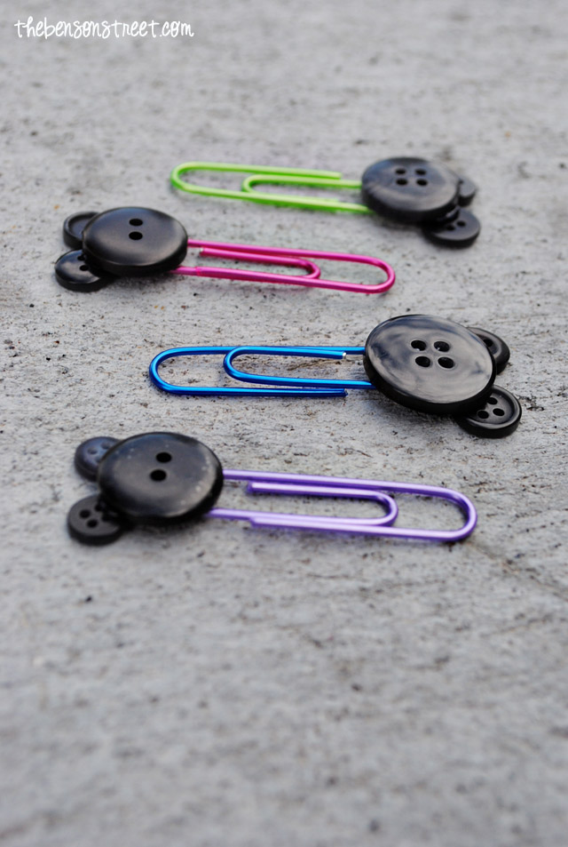 Mickey Mouse DIY Paper Clips at thebensonstreet.com