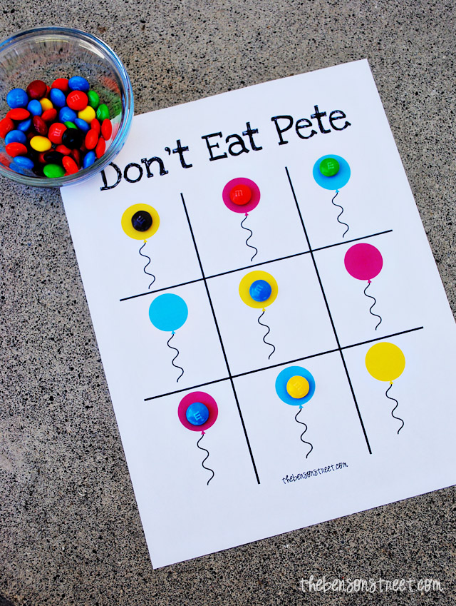Birthday Don't Eat Pete Printable Game at thebensonstreet.com
