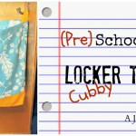 Preschool Locker Cubby Tote: Back to School Series