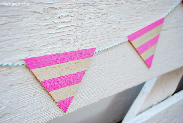 Easy Wooden Pendant Bunting at thebensonstreet.com