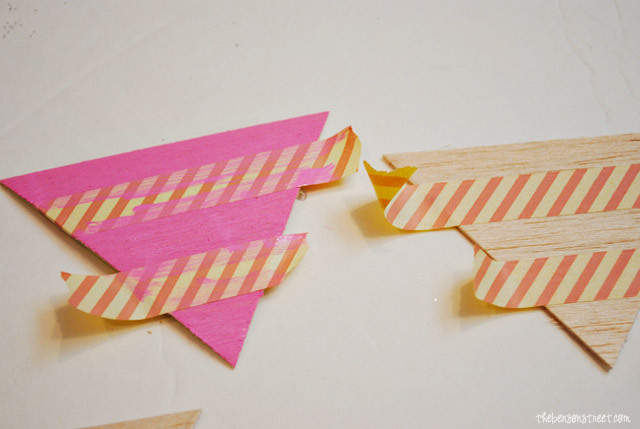 Easy Wooden Pendants Bunting at thebensonstreet.com