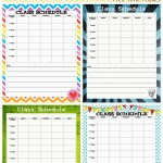 School Schedule Printable: Back to School Series