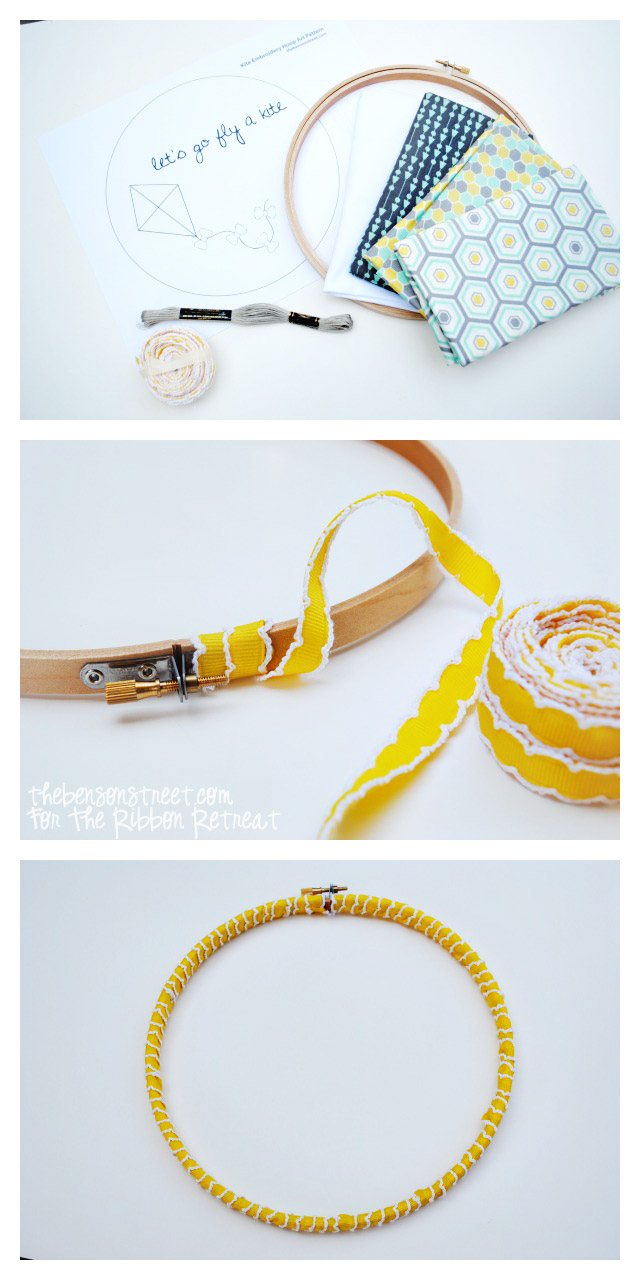 How to Embroidery Hoop Art at thebensonstreet.com