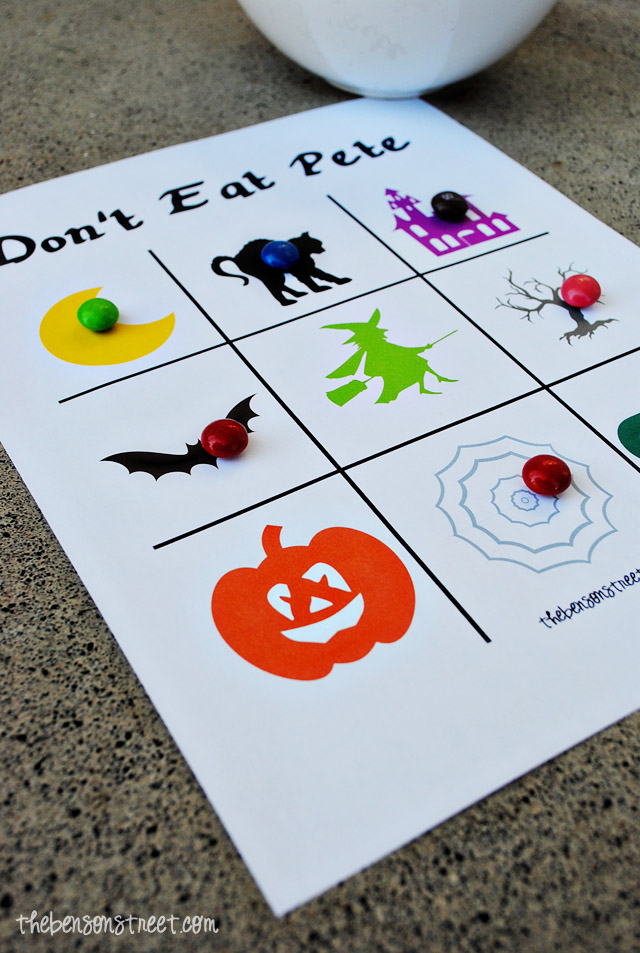 image relating to Don T Eat Pete Printable identified as Halloween Dont Try to eat Pete - The Benson Road