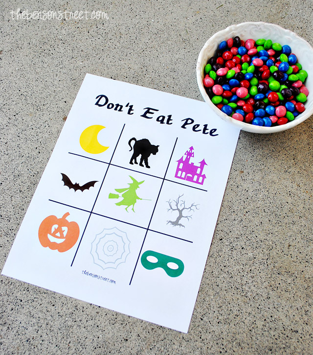 Printable Halloween Don't Eat Pete Game at thebensonstreet.com