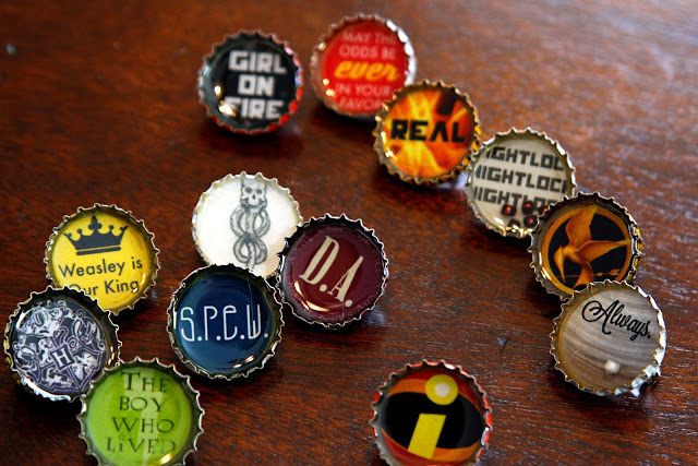 Bottle Cap Pins Tutorial