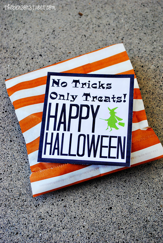 Halloween Treat Bags at thebensonstreet.com