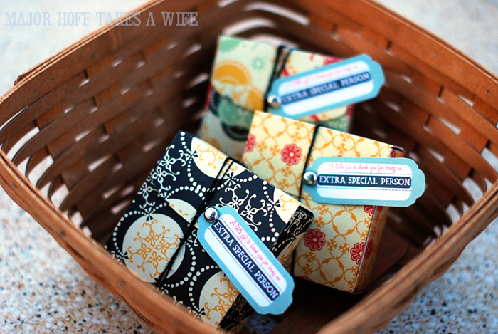 Basket of little gifts for thanking special people in your life