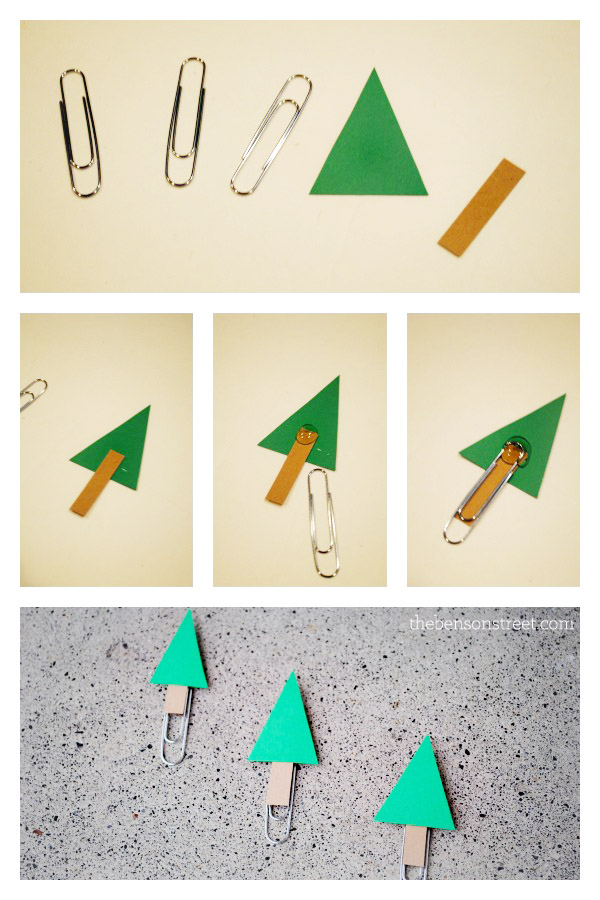Christmas Tree Paperclips at thebensonstreet.com