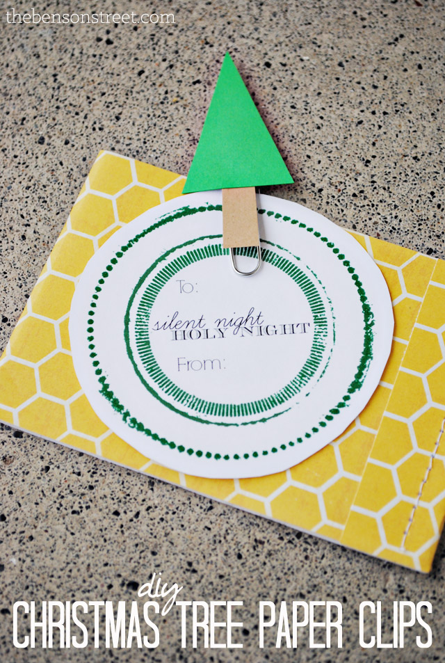 DIY Christmas Tree Paper Clips at thebensonstreet.com