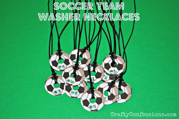 Soccer Washer Necklace