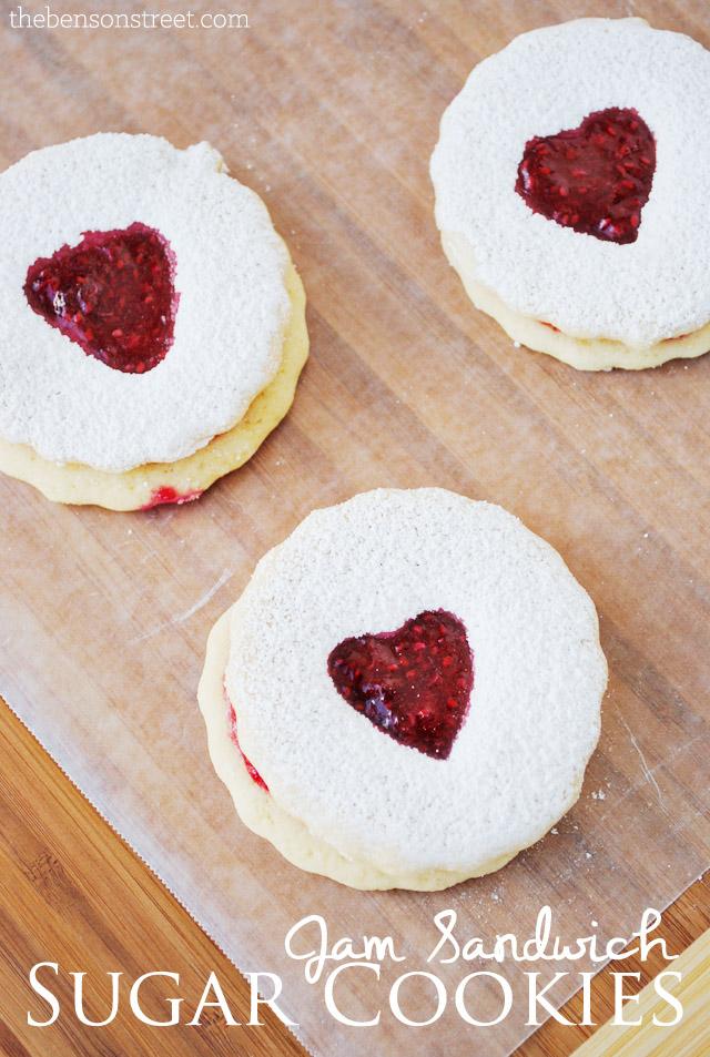 Cut Out Jam Sandwich Sugar Cookies at thebensonstreet.com