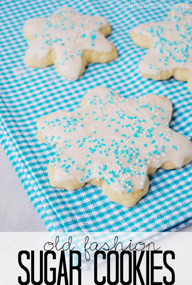 Old Fashion Sugar Cookies at thebensonstreet.com