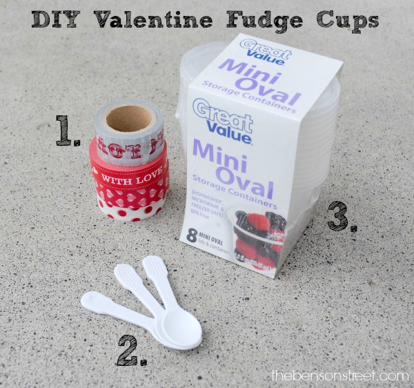 DIY Valentine Fudge Cups at thebensonstreet.com