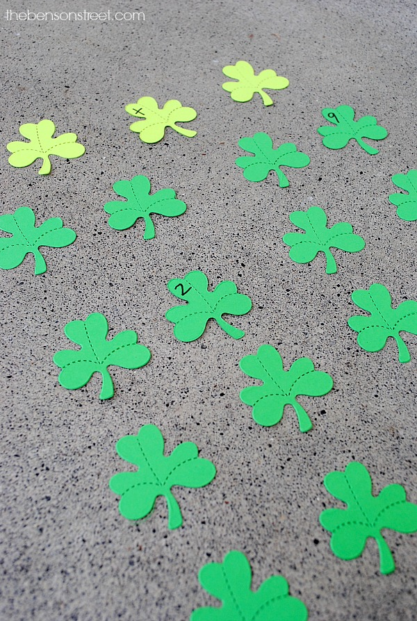 Math St. Patrick's Day Matching Game at thebensonstreet.com