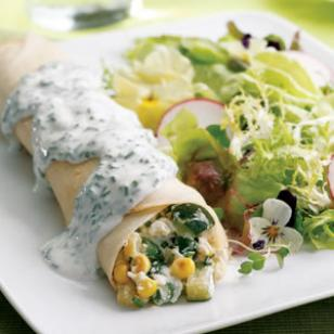 summer veggie crepes