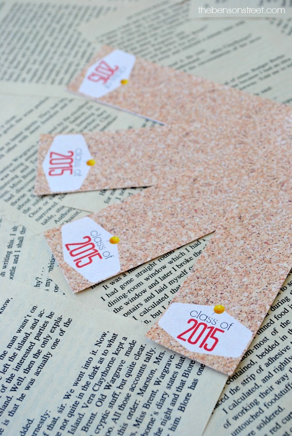 Class of 2015 Printable Bookmarks at thebensonstreet.com