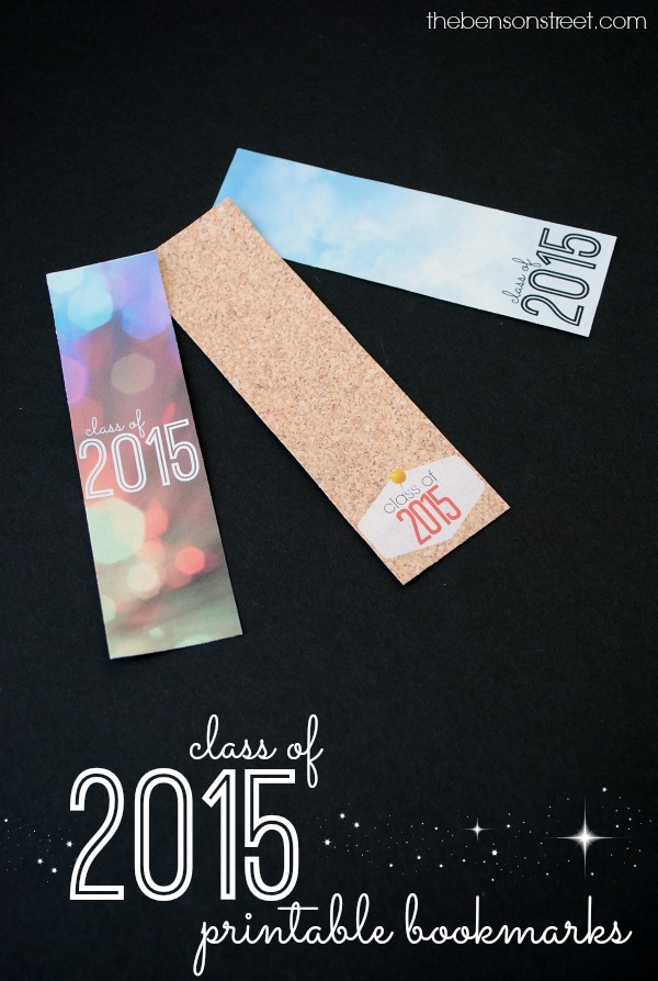 Printable Class of 2015 Graduation Bookmarks at thebensonstreet.com