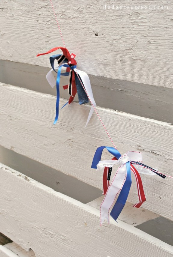 Red, White and Blue Garland at thebensonstreet.com