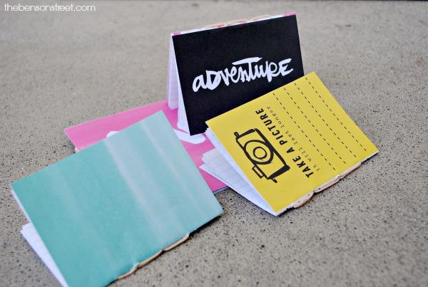 Adorable summer craft idea, hand bound journals at thebensonstreet.com