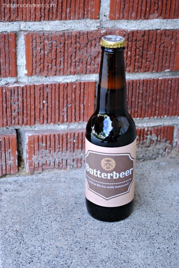 Fun Butterbeer Printable Labels at thebensonstreet.com