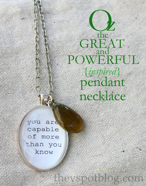Oz the great and powerful pendant necklace