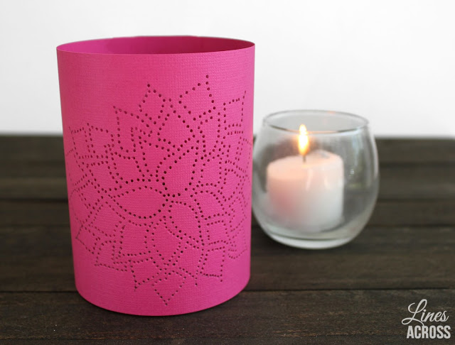 pink dahlia thumb tack paper lantern craft