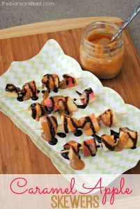 Caramel Apple Skewers. An Easy and Delicious treat from thebensonstreet.com