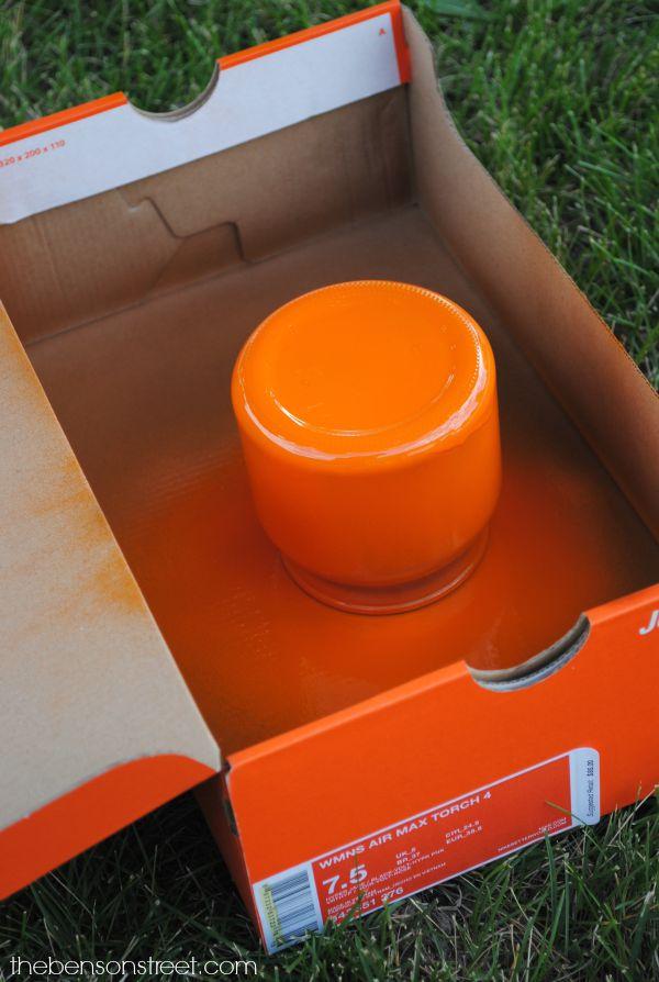Cute Pumpkin Jar Idea at thebensonstreet.com