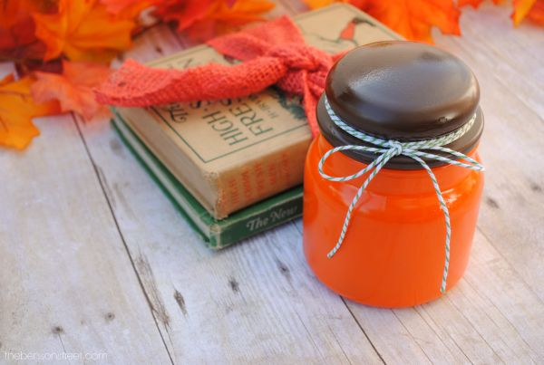 Easy and fun Fall Decor Idea using an empty American Home™ by Yankee Candle® jar at thebensonstreet.com