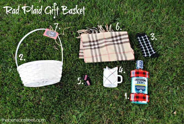 Everything you need to make a Rad Plaid Gift Basket at thebensonstreet.com