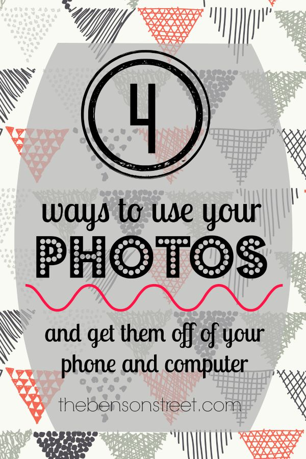 Four Ways to Use Your Photos and get them off your computer at thebensonstreet.com