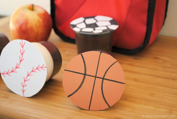 Have a sport loving kid Add one of these fun sports pudding packs to their lunch at thebensonstreet.com