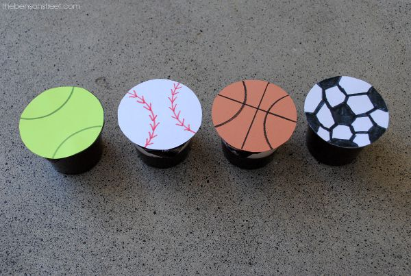 Sports Themed Pudding cups at thebensonstreet.com