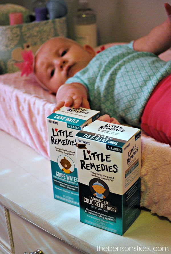 Use Little Remedies Advance Colic Relief Drops to help soothe a fussy baby with colic at thebensonstreet.com