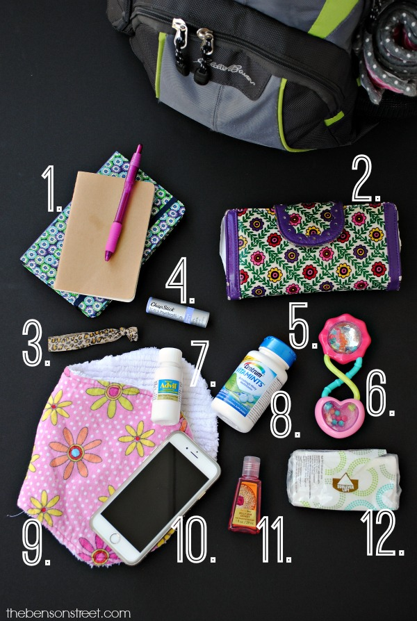 Great ideas to keep in your diaper bag for you at thebensonstreet.com