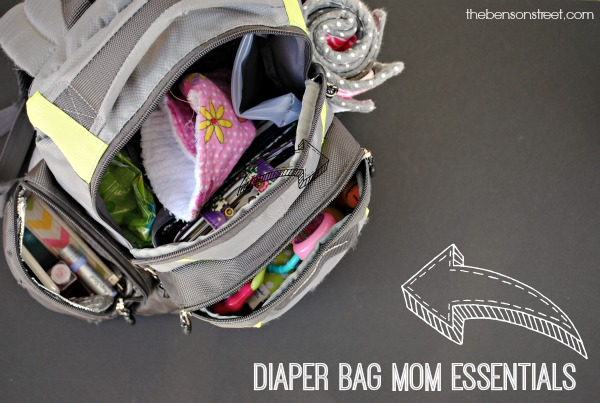 Mom's need stuff in the diaper bag too! Diaper bag mom essentials at thebensonstreet.com