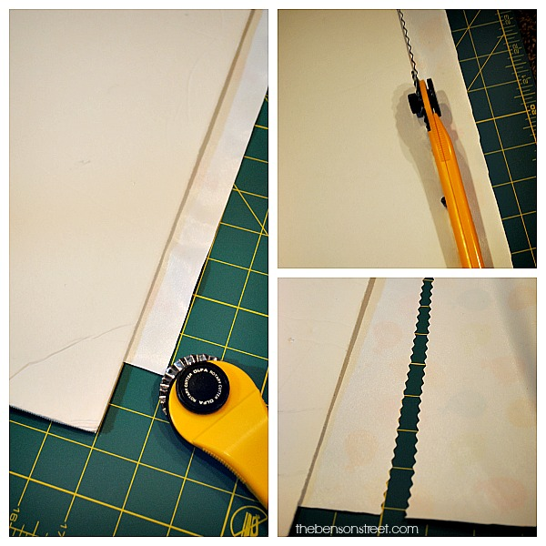 Finishing the Edges on a No Sew Diaper Changing Pad at thebensonstreet.com